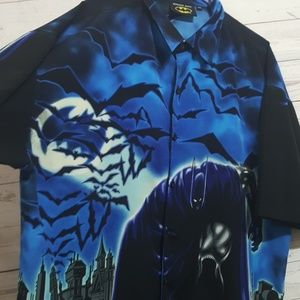 Vintage Men's Batman Button Front Shirt   Size 2X
